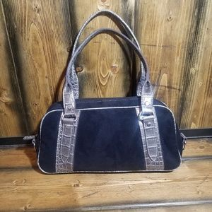 Tommy Hilfiger purse  black suede with gray